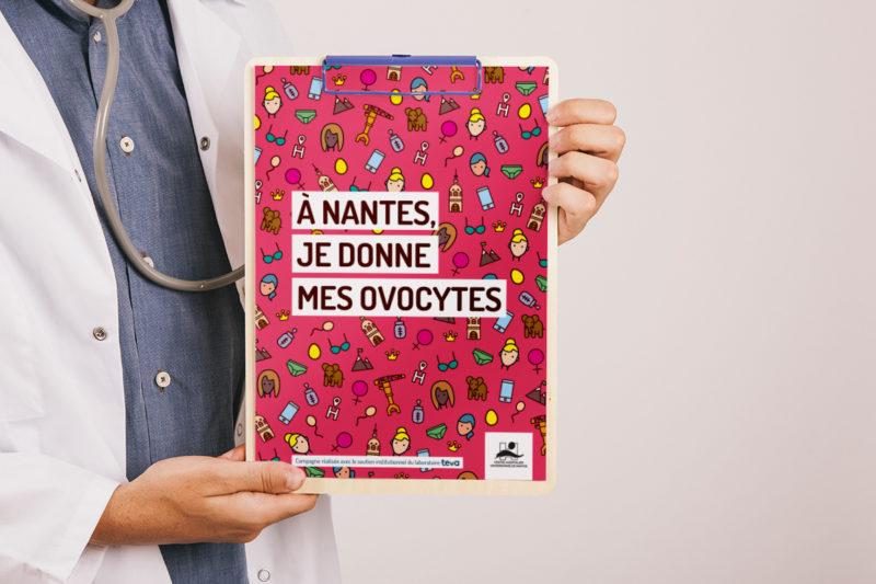Campagne de communication digitale dons d'ovocytes CHU Nantes