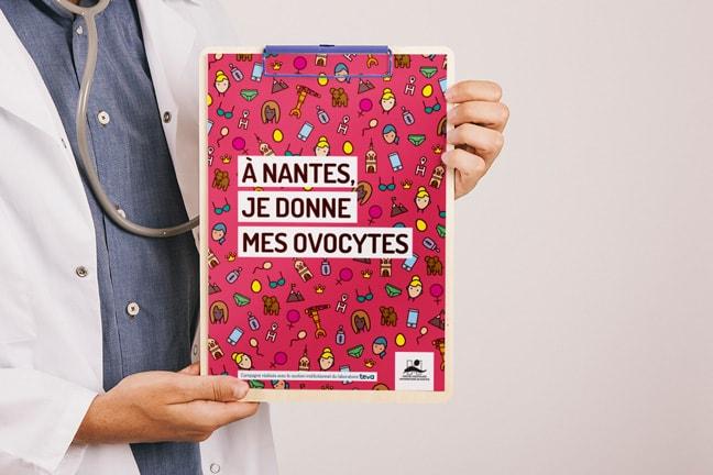 Campagne de communication don d'ovocytes Nantes