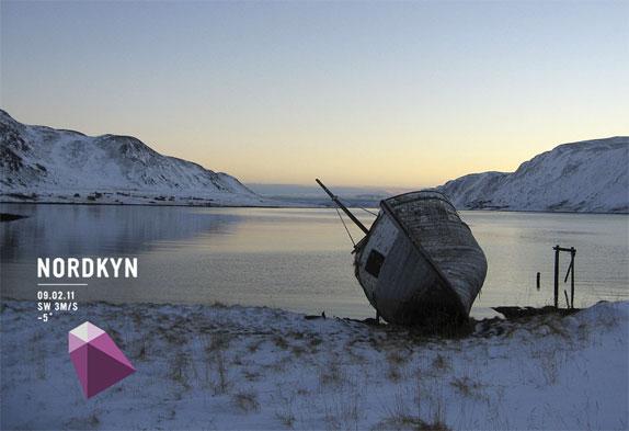 Affiche de campagne métalogo d'une stratégie de communication Nordkyn