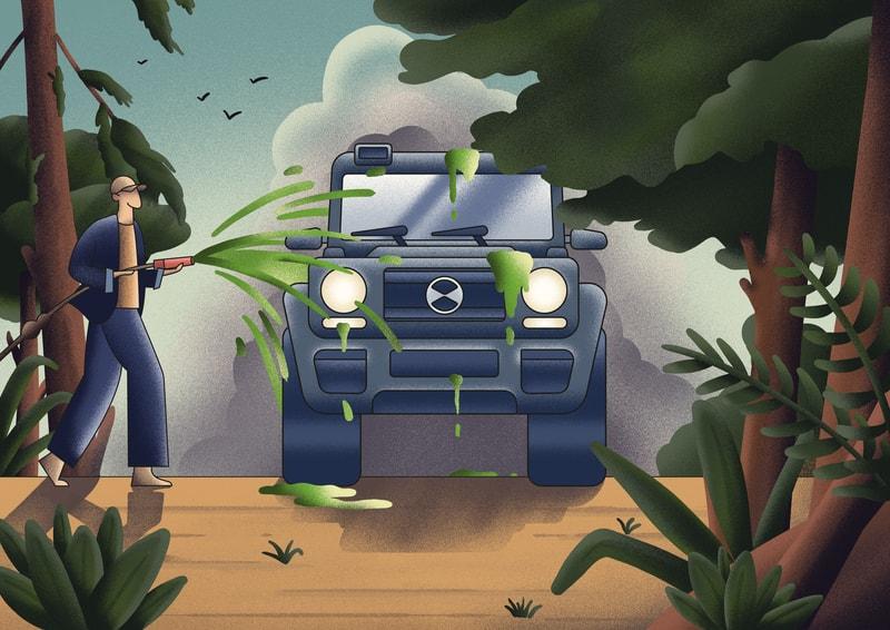 Illustration sur le greenwashing