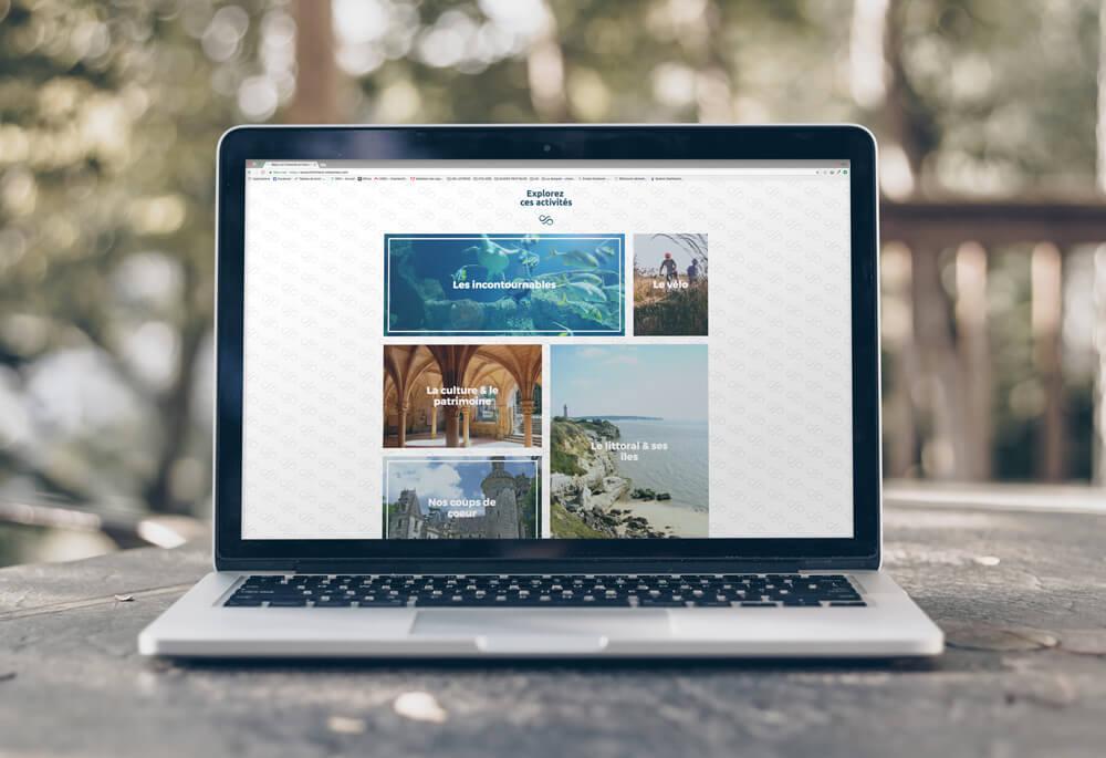 eco conception web, site d'agence de tourisme durable