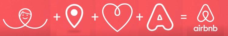 Le logo lettre d'Airbnb