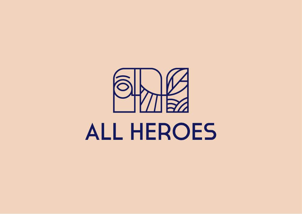 Logo All Heroes, version alternative